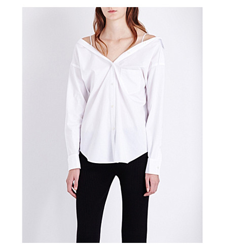 THEORY Tamalee cotton shirt (White