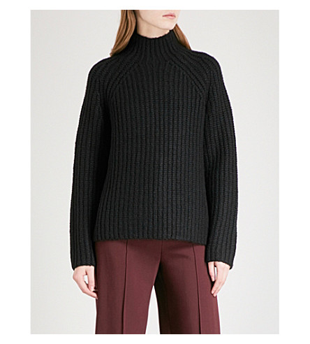 THEORY Rifonia wool and cashmere-blend jumper (Black