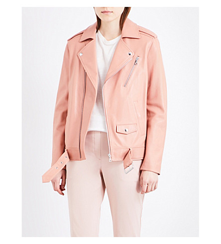 THEORY Tralsmin leather jacket (Pink rose