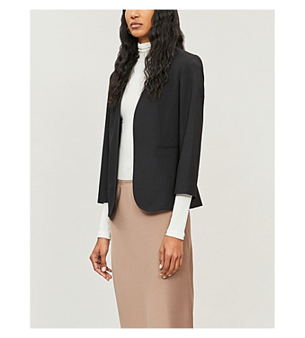 THEORY Lindrayia cropped stretch-wool jacket (Black