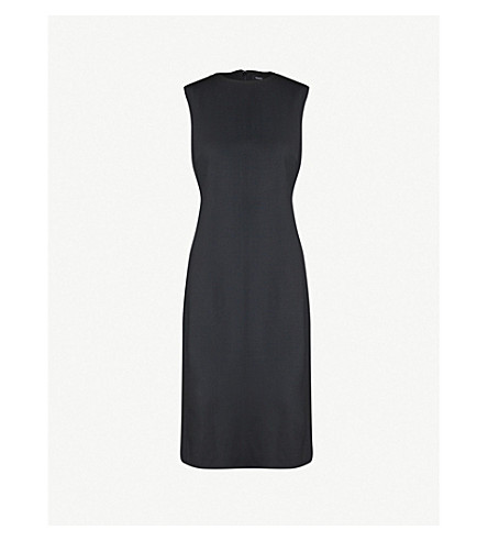 THEORY Eano knee-length stretch-wool dress (Black