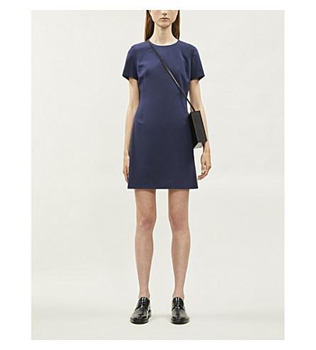 THEORY Jatinn stretch-wool mini dress (Sea+blue
