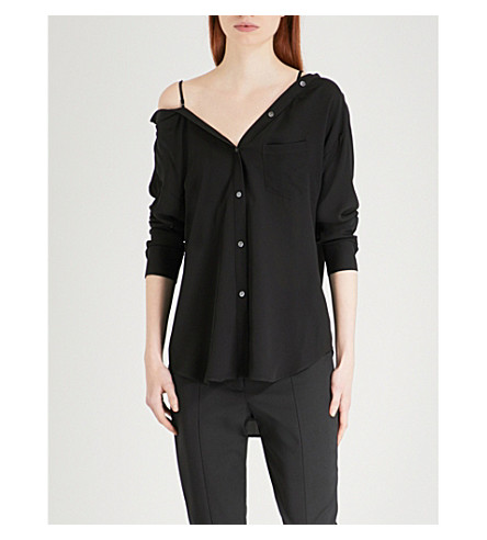 THEORY Tamalee silk shirt (Black