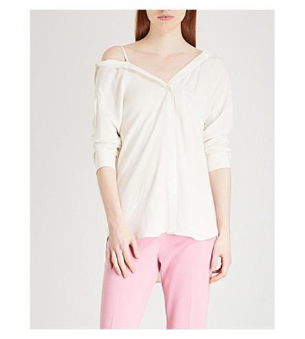THEORY Tamalee silk shirt (Ivory