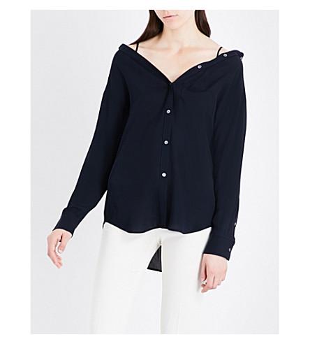 THEORY Tamalee silk shirt (Navy