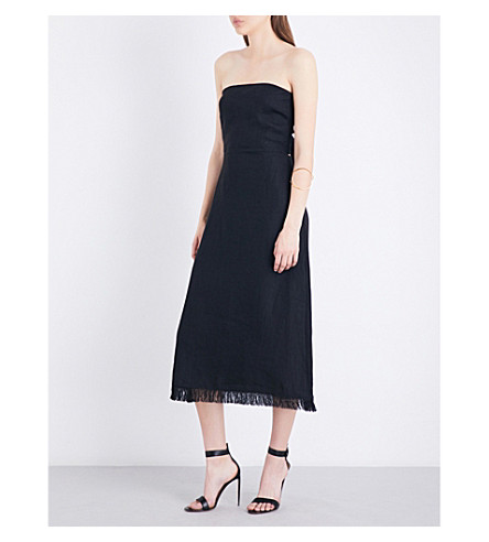 THEORY Phyly linen dress (Black