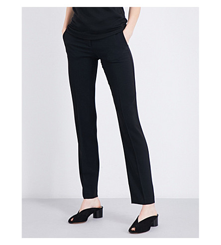 THEORY Hartsdale cropped crepe trousers (Black