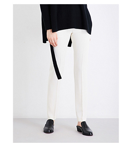 THEORY Hartsdale cropped crepe trousers (Ivory