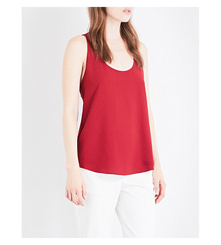 THEORY Bintila bow-detail crepe top (Crimson+red
