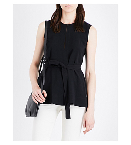THEORY Desza sleeveless crepe top (Black