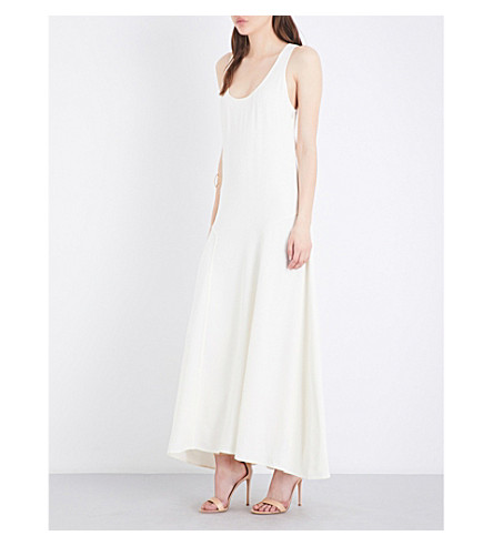 THEORY Rosina crepe maxi dress (Ivory