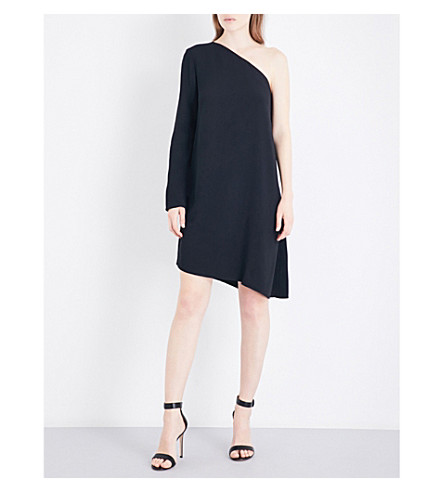 THEORY Sintsi asymmetric crepe dress (Black
