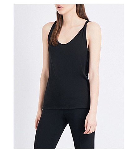 THEORY Scarsdale sleeveless cotton-blend top (Black