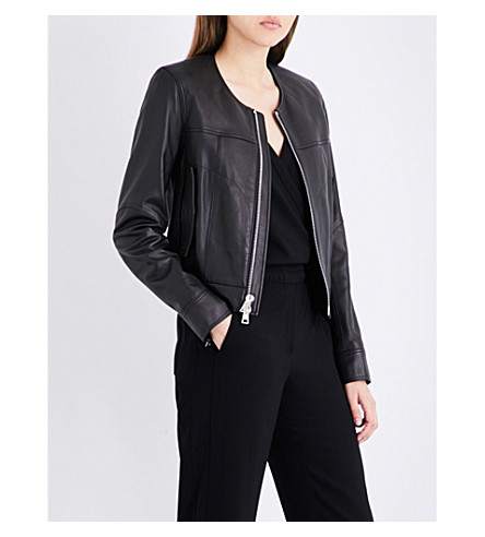 THEORY Onorelle leather jacket (Black