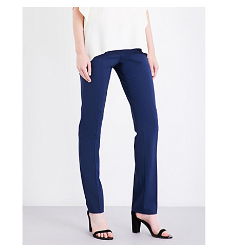 THEORY Hartsdale straight stretch-wool pants (Sapphire+blue