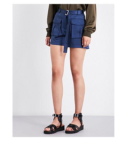 THEORY Vasilica silk-satin shorts (Dark+brisk