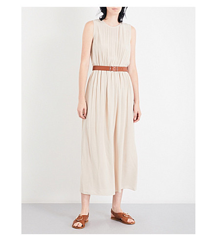 THEORY Briellah silk-crepe midi dress (Pale+biscotti