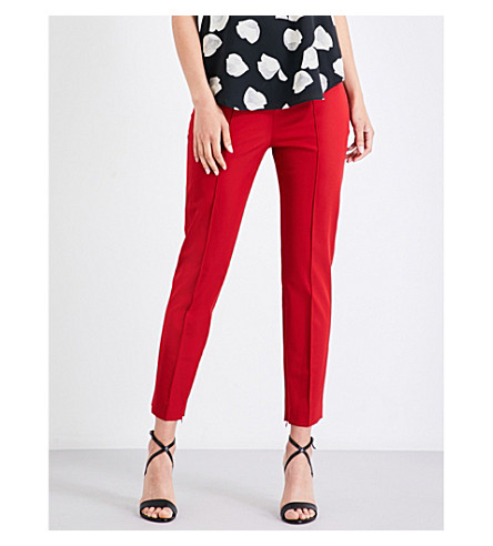 THEORY Alettah skinny cropped stretch-gabardine pants (Crimson+red