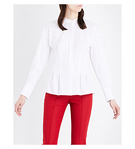 THEORY Narthus fitted stretch-cotton shirt (White