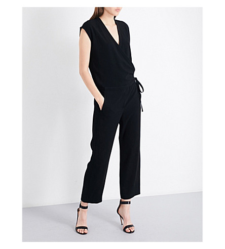 THEORY Lyoral crepe jumpsuit (Black