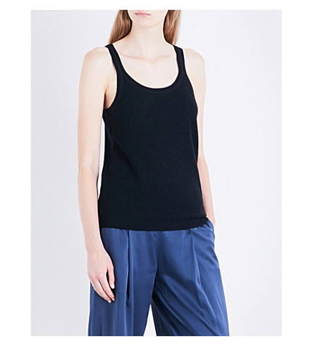 THEORY Windelle sleeveless cashmere top (Black