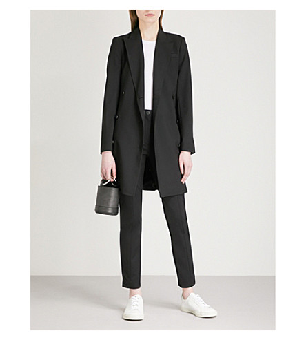 THEORY Double-breasted stretch-wool jacket (Black