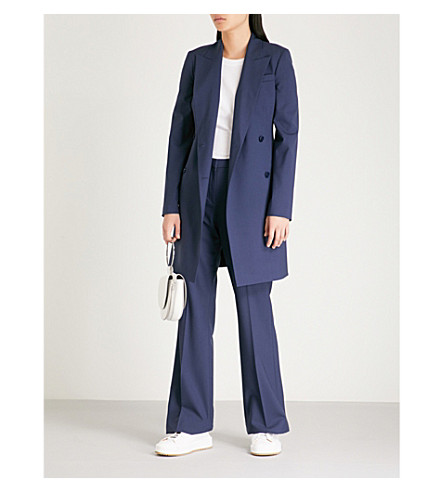 breasted THEORY stretch wool THEORY Sea jacket Double blue Double RtTdxxp