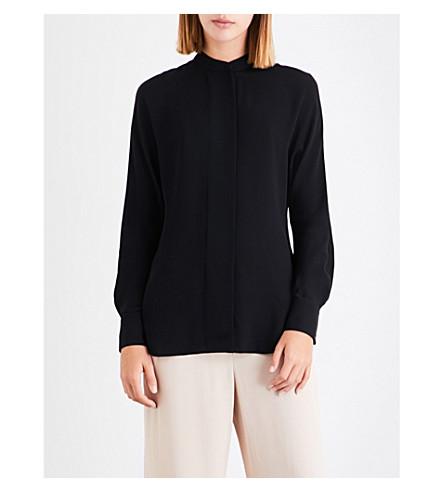 THEORY Perfect Dolman silk-crepe de chine blouse (Black