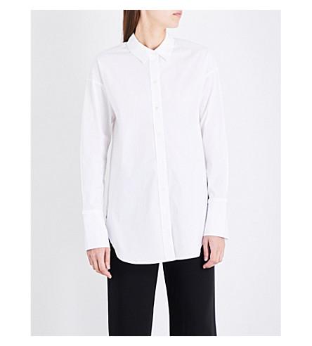 THEORY Boy stretch-cotton tunic shirt (White