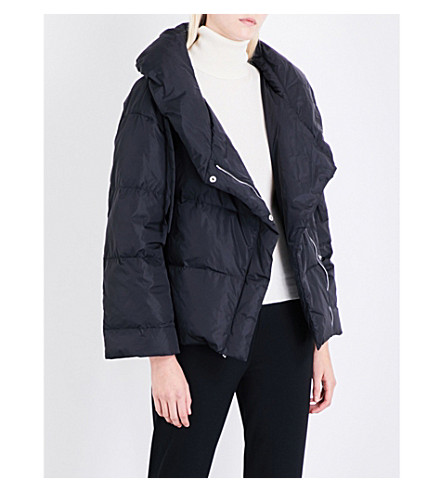 THEORY Quilted shell down puffer jacket (Black
