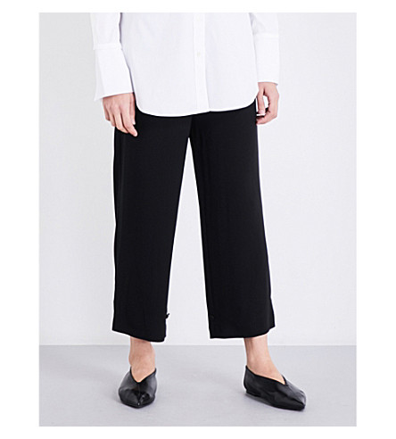 THEORY Genie wide-leg crepe trousers (Black