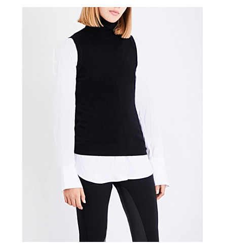THEORY Turtleneck cashmere top (Black