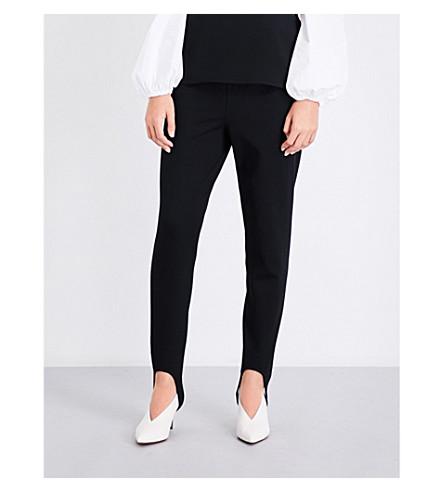 THEORY Stirrup-cuff stretch-jersey leggings (Black