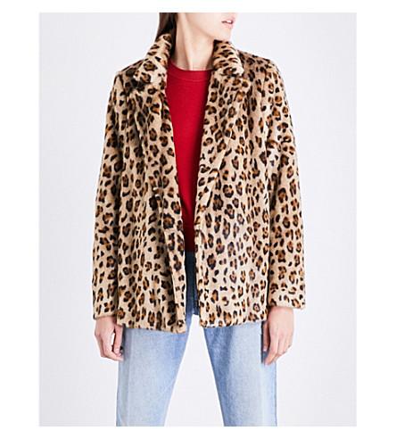 THEORY Clairene leopard-pattern faux-fur jacket (Leo+faux+fur