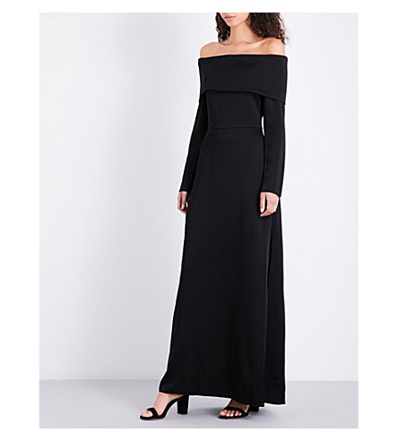 THEORY Elegant crepe gown (Black