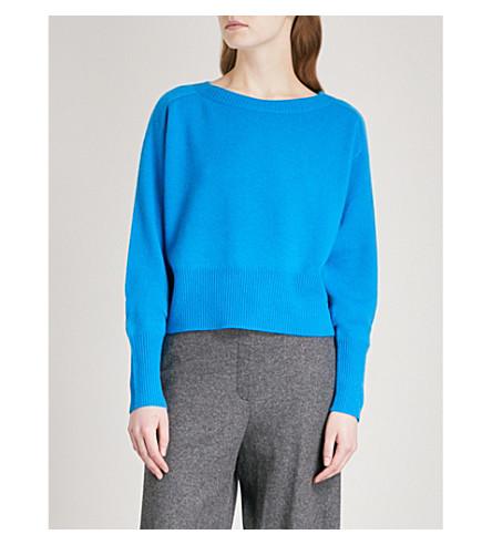 THEORY Boat-neck cashmere jumper (Aqua