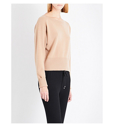 THEORY Boat-neck cashmere jumper (Camel