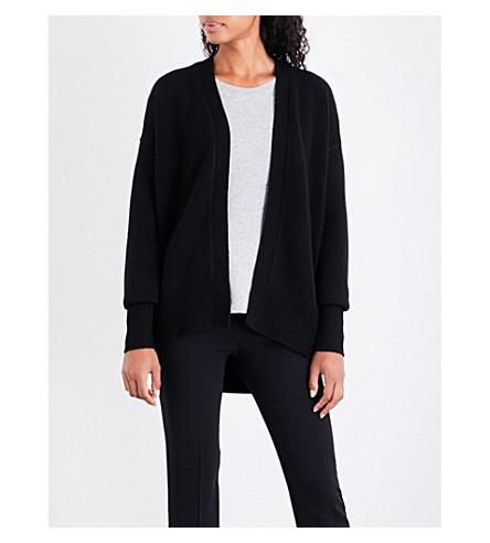 THEORY Waffle-knit cashmere cardigan (Black