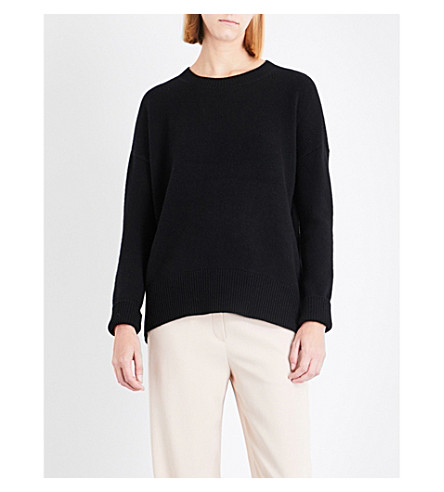 THEORY Karenia round-neck cashmere jumper (Black
