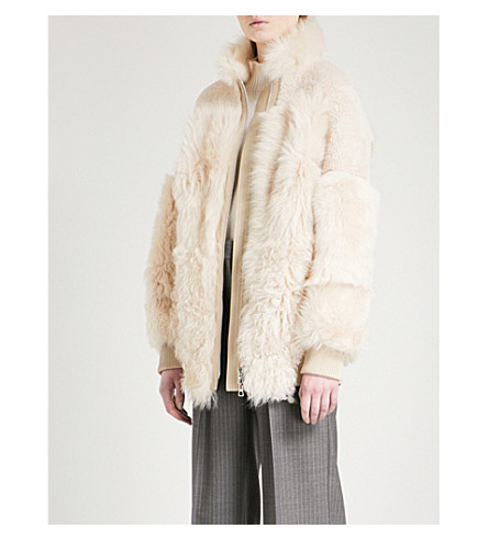 THEORY Reversible shearling jacket (Dusty+ivory