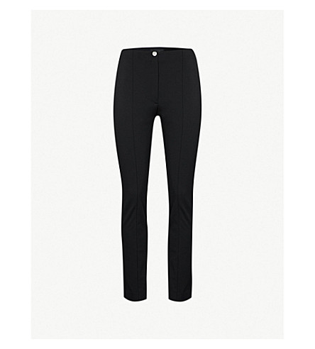 THEORY Cigarette crepe trousers (Black