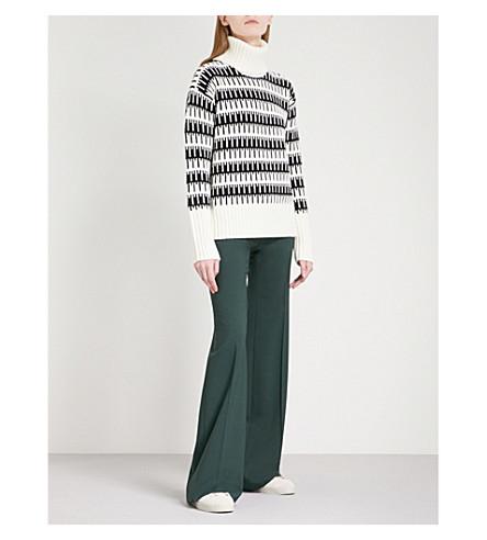 THEORY Wyndora turtleneck wool and cashmere-blend jumper (Cream/black