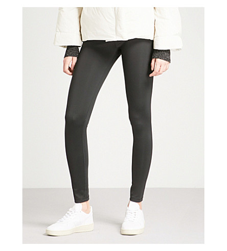 THEORY Adbelle cropped stretch leggings (Black
