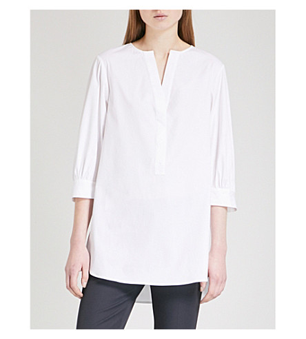 THEORY Loose-fit stretch-cotton shirt (White