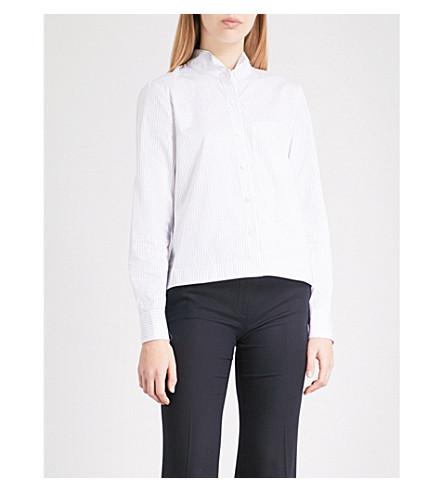 THEORY 男孩棉府绸衬衫 (白色/蓝色