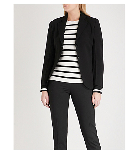 THEORY Admiral laced-detail crepe jacket (Black
