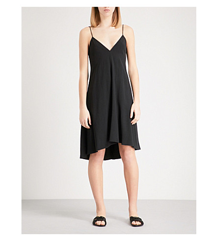 THEORY Kensing crepe slip dress (Black