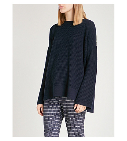 THEORY Relaxed-fit knitted cashmere jumper (Deep+navy