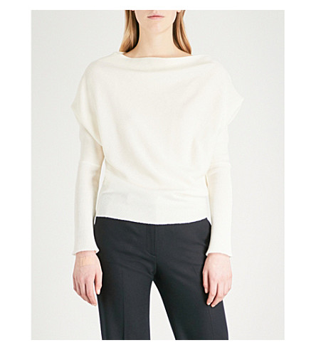 THEORY Boat neck wool-blend jumper (Ivory