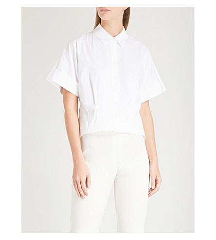 THEORY Pleat-detail cotton shirt (White